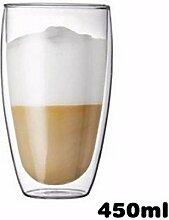WU-Mug Doppelter Glastasse Tee kühle
