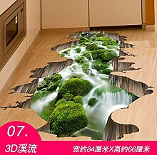 WU-Wall Sticker 3D zum kreativen Bad WC Bad