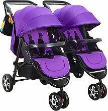 WU ZHI Doppel-Kinderwagen Doppel-Buggy-Kinderwagen