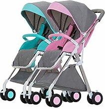WU ZHI Doppel-Kinderwagen Kinderwagen Abnehmbare