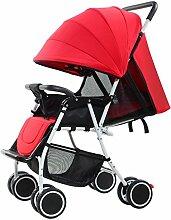 WU ZHI Kinderwagen-Kinderwagen Mit Vier Rädern,