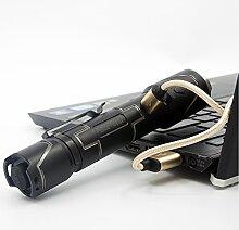 WUBEN I333 Taktische Taschenlampe Hochleistungs-LED Wasserdicht Li-Ion wiederaufladbar mit der USB aérospace Aluminiumlegierung CREE XPL-V5 IP68 Schwarz (inklusive Batterie)