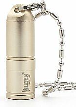 wuben® Mini Taschenlampe Halskette Geschenk Spezial Leistungsstarke USB Taschenlampe Taschenlampe LED aérospace Legierung Aluminium Wasserdicht IPX8Belle, Aluminium, gold, balle, CREE XPL-V5