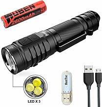 WUBEN TO46R Taschenlampe 3 * CREE XP-G3 High 90