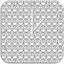 Würfel, Wanduhr Durchmesser 48cm mit weißen spitzen Zeigern und Ziffernblatt, Dekoartikel, Designuhr, Aluverbund sehr schön für Wohnzimmer, Kinderzimmer, Arbeitszimmer