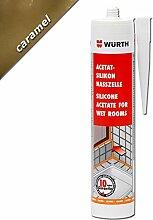Würth Acetat - Silikon Nasszelle Caramel 310 ml Kartusche