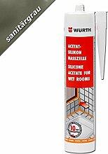 Würth Acetat - Silikon Nasszelle Sanitärgrau 310 ml Kartusche