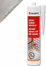Würth Acetat - Silikon Nasszelle Transparent 310 ml Kartusche