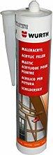 Würth Maler-Acryl Silikon|weiss 310 ml Kartusche PREMIUM-QUALITÄT |Fensterverglasung, Abdichtung, Dehnfugen, Silikonfugen in Bad, Dusche, Sanitär, aussen | hitzbeständig, hochtemperatur| Dichtmasse