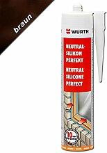 Würth Silikon Braun Neutral-Perfekt 310ml Kartusche Fensterverglasung