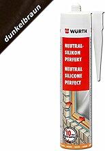 Würth Silikon Dunkelbraun Neutral-Perfekt 310ml Kartusche Fensterverglasung