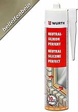 Würth Silikon Hellelfenbein Neutral-Perfekt 310ml Kartusche Fensterverglasung
