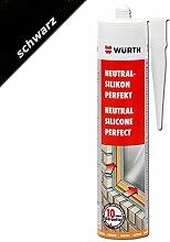 Würth Silikon Schwarz Neutral-Perfekt 310ml Kartusche Fensterverglasung