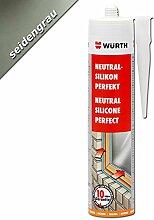 Würth Silikon Seidengrau Neutral-Perfekt 310ml Kartusche Fensterverglasung