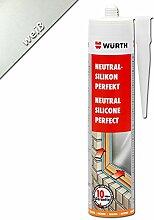 Würth Silikon Weiß Neutral-Perfekt 310ml Kartusche Fensterverglasung