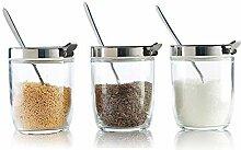 würze box küchenregal Gewürzglas Set