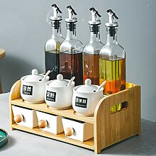 Würzen Box Kombination Set Gewürzflasche Öl