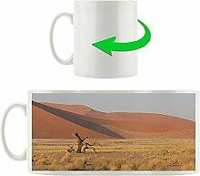 Wüste mit Steppe, Motivtasse aus weißem Keramik 300ml, Tolle Geschenkidee zu jedem Anlass. Ihr neuer Lieblingsbecher für Kaffe, Tee und Heißgetränke.