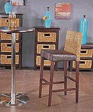 WUFENG Bar Stuhl Bar Hocker mit Rattan gestrickte Rückenlehne und Holzrahmen Moderne Design Bar Hocker perfekt für Küche, Diner und gelegentliche Sitzplätze ( Farbe : B )