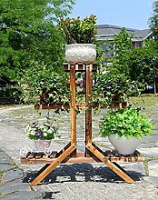 WUFENG Blumenrahmen Eisen Multilayer Boden Holz Blumen Regal Holz Bonsai Balkon Balkon Innenraum Weiß Blumenrahmen Mit Gartenarbeit Gadget ( Farbe : A , größe : 84*84cm )