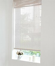 wufeng Custom Made Bambus Rolle bis Rollo Fenster Bambus Vorhang Panel Insektenschutz-Vorhänge Para Wasserspender Balkon Wohnzimmer Tee Raum Sonnenschutz Vorhang jalousiebänder, 880 W x 2430 H