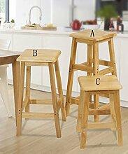 WUFENG Eiche Bar Hocker Bar Stuhl hohe Hocker 3 Größen sind vorhanden ( Farbe : C )