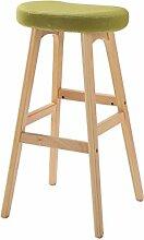 WUFENG Einfache Retro Bar Stuhl Holz Bar Hocker mit Stoff / PU Sitz und Holzrahmen Komfortable Rückenlehne & Fußstütze Holz Küche Tresenstuhl ( Farbe : G )