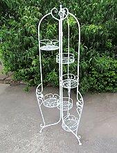 WUFENG Eisen-Blumen-Gestell-faltbarer Innen Balkone Blumentopf Blume Weiß Rack Montage Blumentopf Regal