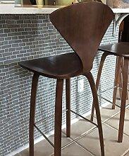 WUFENG Ergonomische Bar Hocker Bar Stuhl mit bequemer Rückenlehne, perfekt für Bar Küche Diner und gelegentliche Sitzplätze ( Farbe : B )