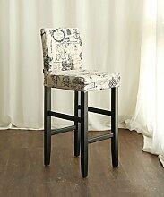 WUFENG Ergonomische Bar Hocker Bar Stuhl mit bequemer Rückenlehne, perfekt für Bar Küche Diner und gelegentliche Sitzplätze ( Farbe : A , größe : H3-115CM )