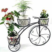 WUFENG European-style Blumen-Racks Eisen Blume Rack Wohnzimmer Blumen-Topf Blumen-Rack Schwarz und Bronze Montage Blumentopf Regal ( Farbe : A )