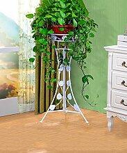WUFENG European Style Flower Frame Indoor Wohnzimmer Retro Blumen Regal Single Layer Blumentopf Rack ( Farbe : C , größe : 37*37*62.5cm )