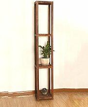 WUFENG Holz Balkon Blume Rack Massivholz Wohnzimmer fleischig Pflanze Racks mehrschichtige Bonsai Rahmen Holz Indoor Ground hohe Blume Rack Montage Blumentopf Regal ( größe : A )