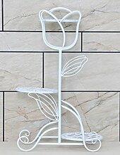 WUFENG Kontinentales Eisen kreative mehrschichtige Blume Rack Balkon Montage Blumenregal Boden Pflanzer Regal Einfache und kreative moderne Wohnzimmer Indoor Blumenregal (3 Styles verfügbar) Montage Blumentopf Regal ( Farbe : B , größe : 1 )