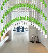 WUFENG Kristall Perlenvorhang Türvorhang Zimmer Tür Fenster Perlen Quaste String Vorhang Perlen Wandpaneel Raumteiler Halb Hängende Vorhänge ( Farbe : D , größe : 80*180cm )