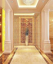 WUFENG Kristall Perlenvorhang Türvorhang Zimmer Tür Fenster Perlen Quaste String Vorhang Perlen Wandpaneel Raumteiler Halb Hängende Vorhänge ( Farbe : A , größe : 80*175cm )