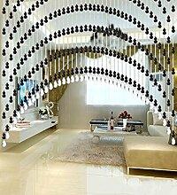 WUFENG Kristall Perlenvorhang Türvorhang Zimmer Tür Fenster Perlen Quaste String Vorhang Perlen Wandpaneel Raumteiler Halb Hängende Vorhänge ( Farbe : C , größe : 80*220cm )