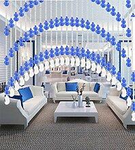 WUFENG Kristall Perlenvorhang Türvorhang Zimmer Tür Fenster Perlen Quaste String Vorhang Perlen Wandpaneel Raumteiler Halb Hängende Vorhänge ( Farbe : A , größe : 100*120cm )