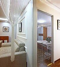 WUFENG Kristall Perlenvorhang Türvorhang Zimmer Tür Fenster Perlen Quaste String Vorhang Perlen Wandpaneel Raumteiler Halb Hängende Vorhänge ( größe : 120*200cm )