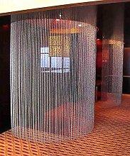 WUFENG Kristall Perlenvorhang Türvorhang Zimmer Tür Fenster Perlen Quaste String Vorhang Perlen Wandpaneel Raumteiler Halb Hängende Vorhänge ( Farbe : A , größe : 90*200CM )