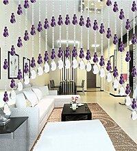 WUFENG Kristall Perlenvorhang Türvorhang Zimmer Tür Fenster Perlen Quaste String Vorhang Perlen Wandpaneel Raumteiler Halb Hängende Vorhänge ( Farbe : C , größe : 80*180cm )
