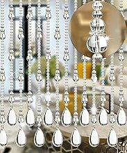 WUFENG Kristall Perlenvorhang Türvorhang Zimmer Tür Fenster Perlen Quaste String Vorhang Perlen Wandpaneel Raumteiler Halb Hängende Vorhänge ( Farbe : C , größe : 120*180cm )