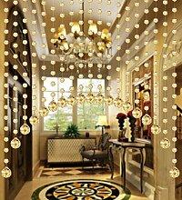 WUFENG Kristall Perlenvorhang Türvorhang Zimmer Tür Fenster Perlen Quaste String Vorhang Perlen Wandpaneel Raumteiler Halb Hängende Vorhänge ( Farbe : A , größe : 100cm wide )