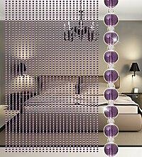 WUFENG Kristall Perlenvorhang Türvorhang Zimmer Tür Fenster Perlen Quaste String Vorhang Perlen Wandpaneel Raumteiler Halb Hängende Vorhänge ( Farbe : C , größe : 105*60CM )