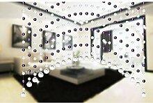 WUFENG Kristall Perlenvorhang Türvorhang Zimmer Tür Fenster Perlen Quaste String Vorhang Perlen Wandpaneel Raumteiler Halb Hängende Vorhänge ( Farbe : F , größe : 25 string (hanging 0.8-1.2 m wide) )