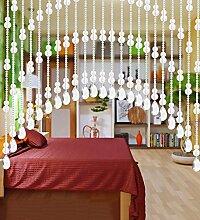 WUFENG Kristall Perlenvorhang Türvorhang Zimmer Tür Fenster Perlen Quaste String Vorhang Perlen Wandpaneel Raumteiler Halb Hängende Vorhänge ( Farbe : B , größe : 100*180cm )