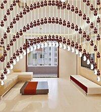 WUFENG Kristall Perlenvorhang Türvorhang Zimmer Tür Fenster Perlen Quaste String Vorhang Perlen Wandpaneel Raumteiler Halb Hängende Vorhänge ( Farbe : D , größe : 120*180cm )