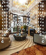 WUFENG Kristall Perlenvorhang Türvorhang Zimmer Tür Fenster Perlen Quaste String Vorhang Perlen Wandpaneel Raumteiler Halb Hängende Vorhänge ( Farbe : B , größe : 200cm wide )