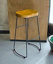 WUFENG Massivholz Eisen Bar Hocker Bar Stuhl perfekt für Küche, Diner und gelegentliche Sitzplätze ( größe : 42*32*65cm )
