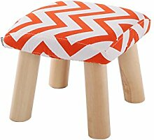 WUFENG Runder/Platz Hocker Upholstered Footstool gepolstert Schemel Runde Round Pouffe Footstool Fabric Cover 3/4 Legs and Removable Linen Cover Choice of 21 colors ( Farbe : Q )
